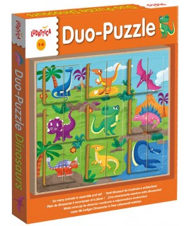 PUZZLE 2X9 - ΔΕΙΝΟΣΑΥΡΟΙ (DUO-PUZZLE DINOSAURS)