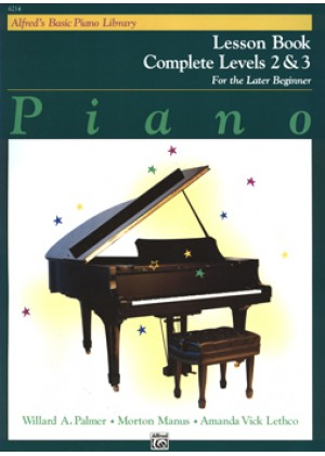 ALFREDS BASIC PIANO LIBRARY-COMPLETE LESSOΝ BOOK LEVEL 2 & 3