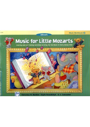 ALFREDS MUSIC FOR LITTLE MOZARTS - MUSIC WORKBOOK 2