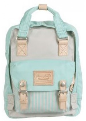ΤΣΑΝΤΑ ΠΛΑΤΗΣ MACAROON MINI STRIPES STONE X AQUAMARINE