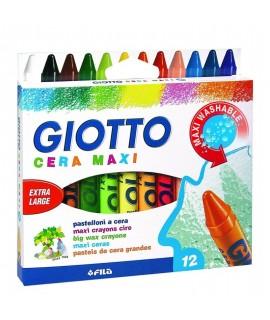 GIOTTO CERA MAXI SET12 - SUPER WASHABLE